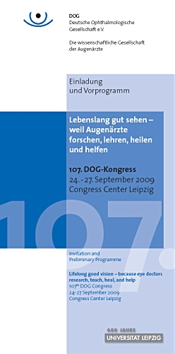 107. DOG-Kongress 2009 in Leipzig